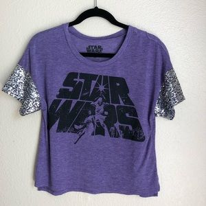 NWT Star Wars Purple and Sequin Top